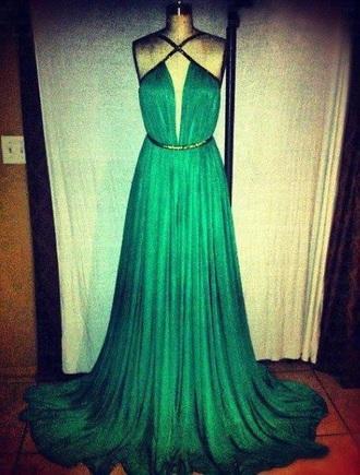 dress clothes prom dress green dress pleated criss cross