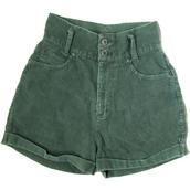 shorts,green,green shorts,High waisted shorts,corduroy,vintage,vintage shorts
