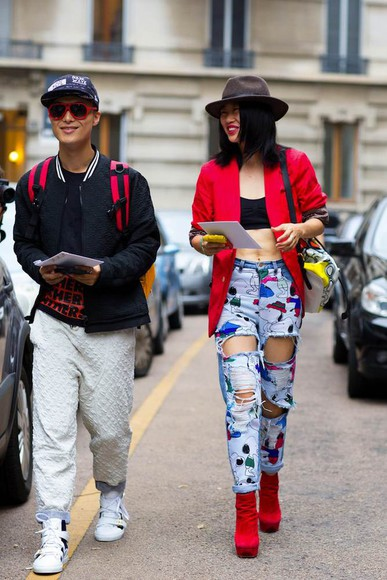 streetstyle fashion week 2014 fall outfits jeans
