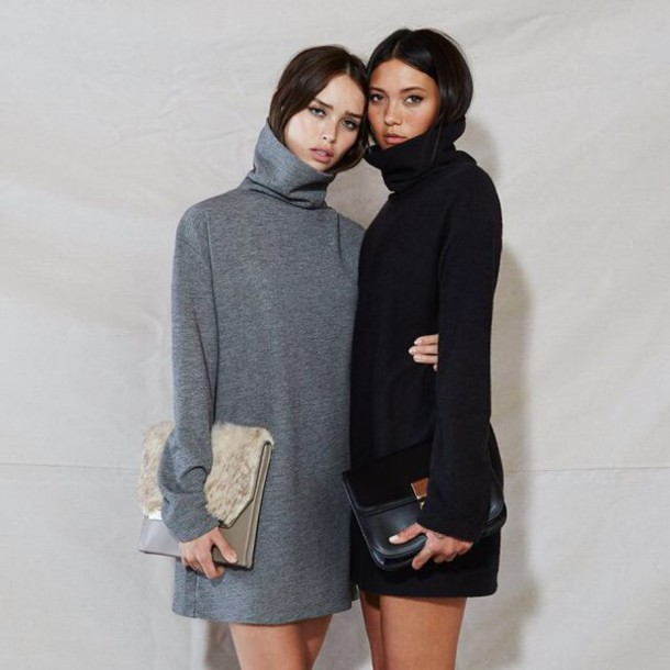 dress grey turtleneck turtleneck dress grey dress black dress sweater dress