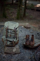 bag,green,canvas,shoes,backpack,boots,khaki,need this bagpack,brow,retro,grunge,cool,moro,nature,travel,camping