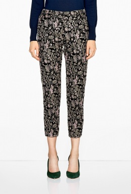 MSGM | Floral Brocade Trousers by MSGM