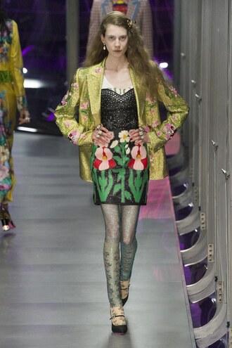 skirt gucci bustier runway milan fashion week 2017 fashion week 2017 jacket blazer