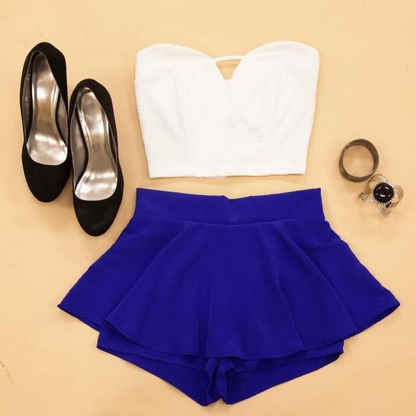 shorts cute summer shirt tank top skirt shoes white white crop tops crop tops