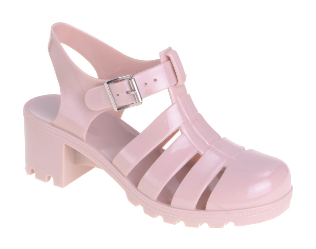 Nude Heeled Jelly | Linzi | Women's Shoes, Boots & Sandals