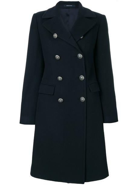 TAGLIATORE coat double breasted women blue wool