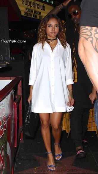 oversized shirt button up dress