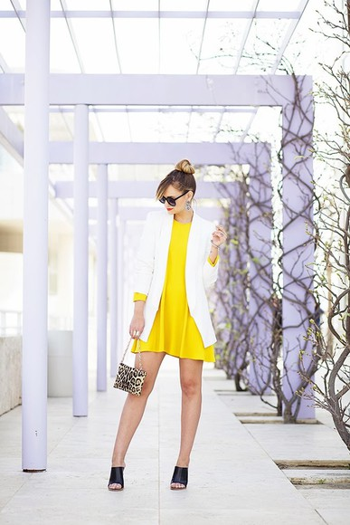dress late afternoon shoes bag sunglasses jacket jewels