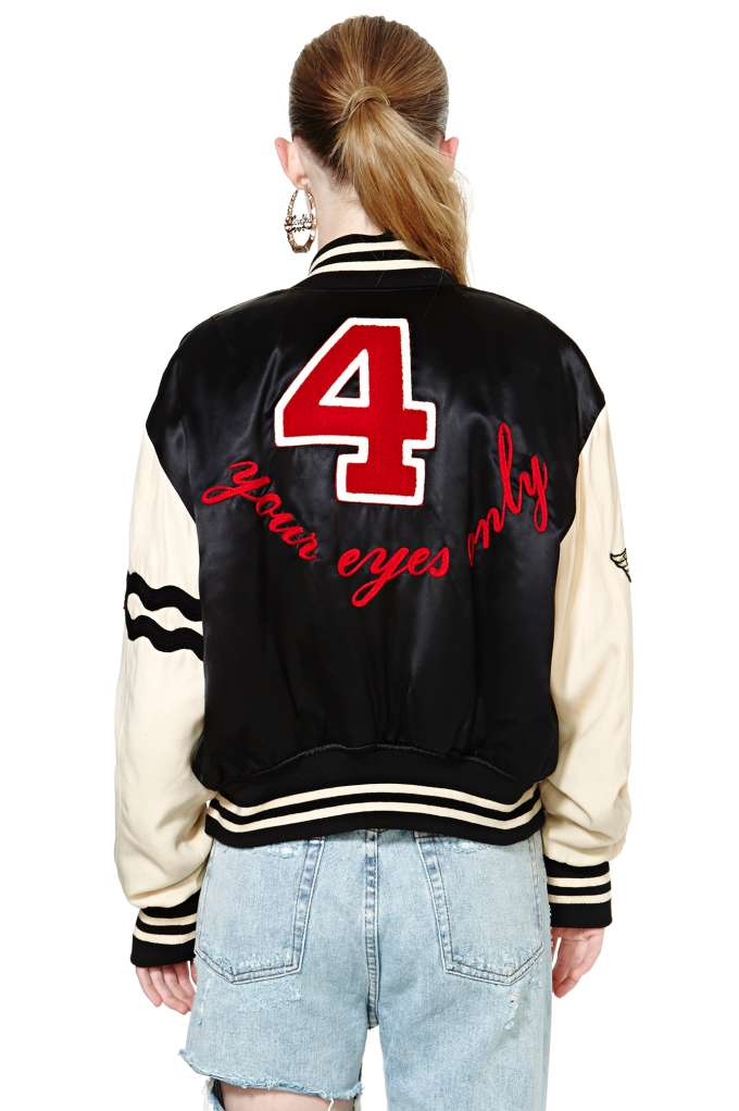 Vintage Moschino Your Eyes Only Jacket at Nasty Gal