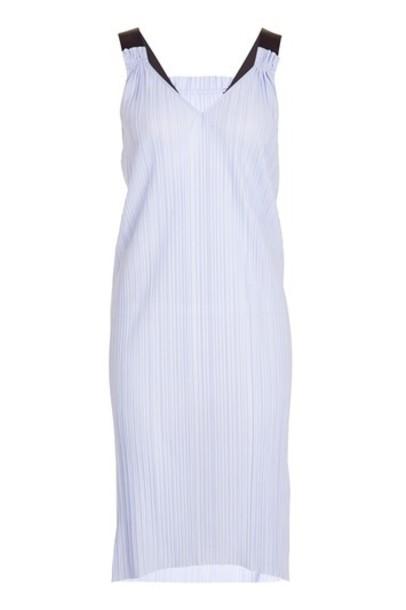 Topshop dress slip dress pleated midi lilac