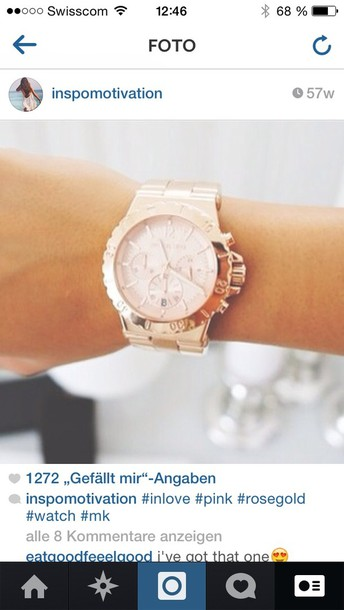 jewels watch pink rose gold rose gold