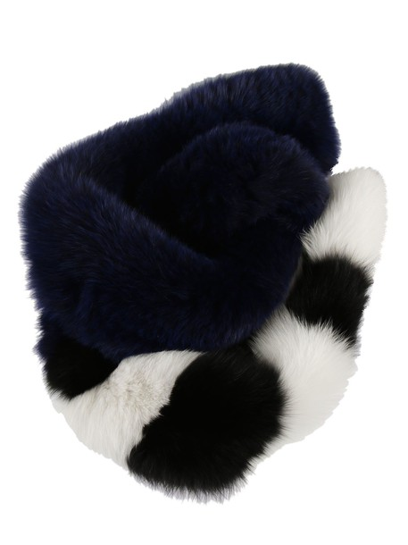 Off-White fox scarf white blue
