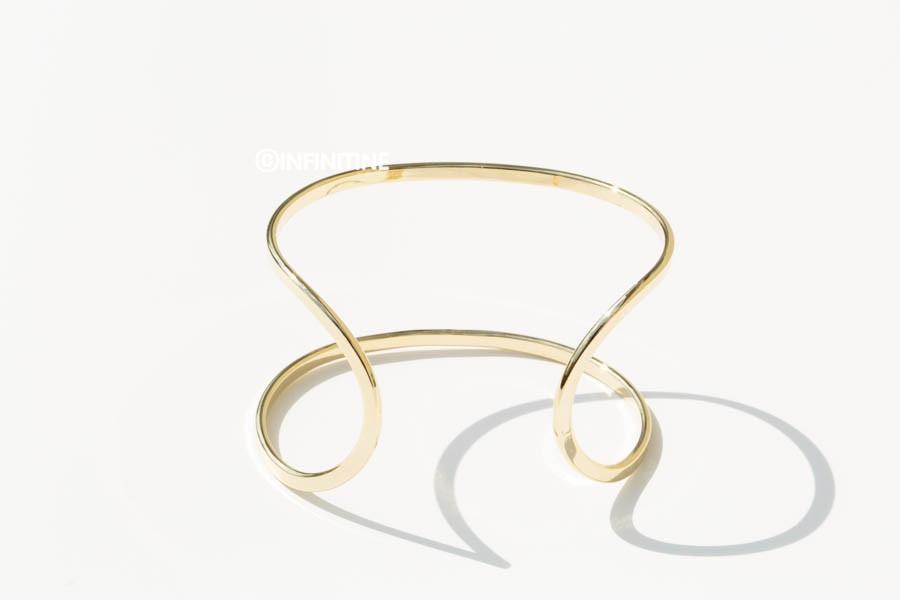 Two lines bangle bracelet ,BR2018