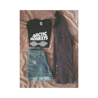 arctic monkeys grunge t-shirt outfit hipster grunge