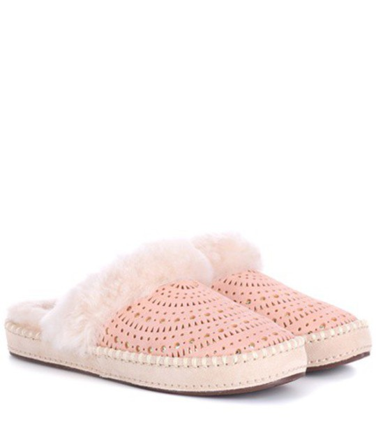 UGG Australia slippers suede pink shoes