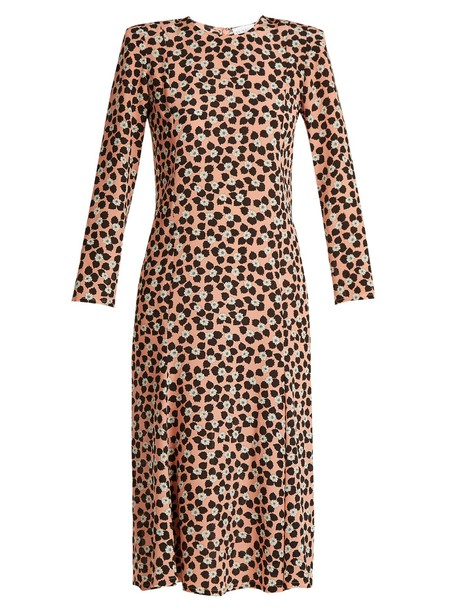 Raey dress silk dress print silk pink