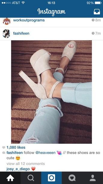 shoes cream high heels red wedges summer heels high heels dress modnessa