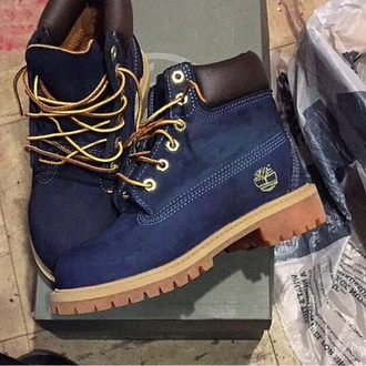 shoes blue timberlands