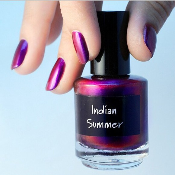nail polish purple solar flare
