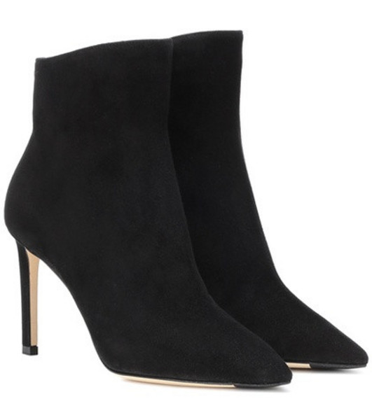 Jimmy Choo Helaine 85 suede ankle boots in black