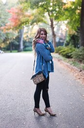 herestheskinny,blogger,cardigan,tank top,jeans,scarf,bag,shoes,jewels,make-up,animal print bag,animal print high heels,black jeans,high heel pumps