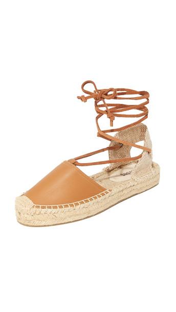 Soludos Platform Gladiator Sandals - Tan
