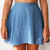 High Waist Chambray Denim Skater Skirt