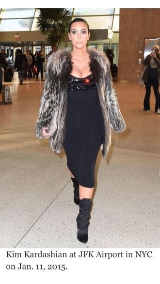 coat sexy kardashians kim kardashian fur coat fur vest fur jacket fur hot khole kardashian kourtney kardashian bad bitch