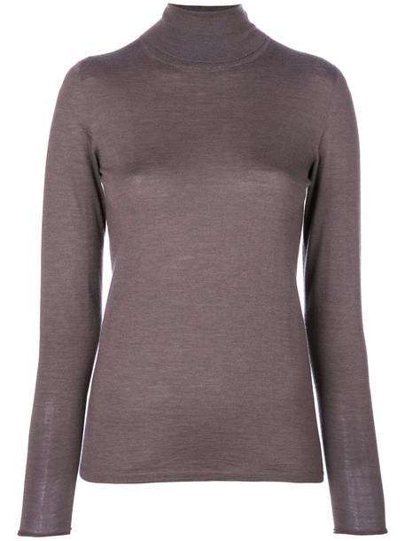 Le Tricot Perugia - high neck sweater - women - Silk/Cashmere - XL, Grey, Silk/Cashmere
