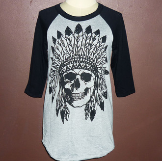 t-shirt tee rock skull indian art skull metal t-shirt misfits skull american indian stampunk your rock face skull raglan t-shirt shirt baseball tee baseball shirt punk rock punk skull skull t-shirt gray t-shirts gray tee women t shirts mens t-shirt unisex punk dress workout clothes crew neck t shirt crewneck gray teen rock t-shirt rock indian indian skull nativeamerican native indian native american tribal old style punk clothes long sleeves longsleeve metal rock rocker metal tee heavy metal women heavy gift scarfs style tempest hippie shirt face clothing shop online print t-shirt online screen print handprint workout outfit rock fashion teen men teen women african style african american