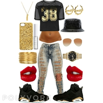 shoes jordans jersey croptop iphone cases bucket hats jeans shirt red lime sunday