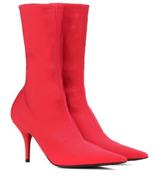 Balenciaga ankle boots red shoes