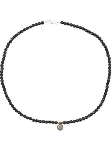 Catherine Michiels beaded bracelet women beaded silver black jewels