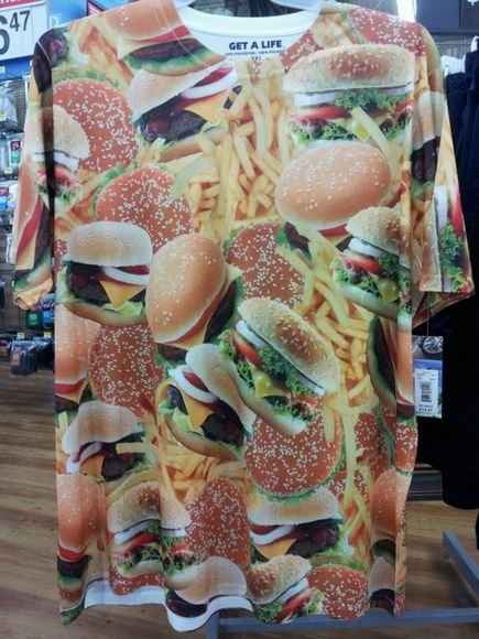 t-shirt tumblr hamburger food