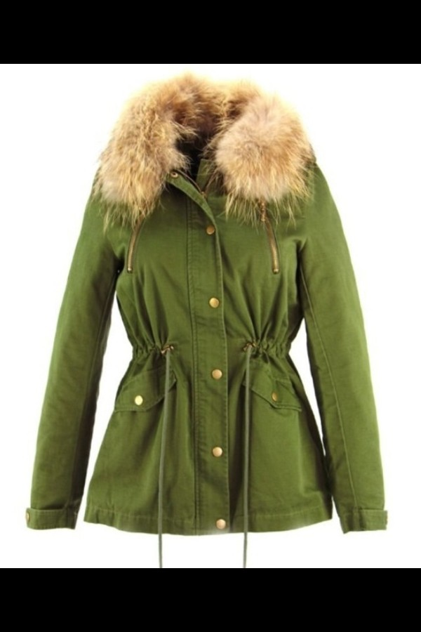 jacket green parka