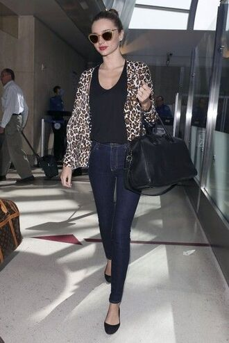 jacket bag miranda kerr leopard print