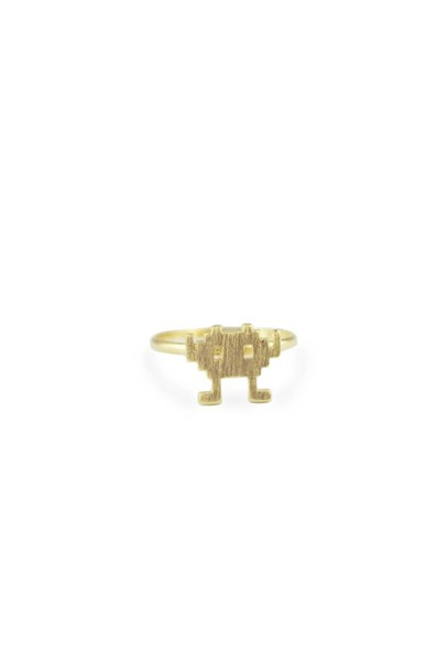 jewels ring ring Accessory fashion accessory gold cute alien gameboy video game video games free size counthesheep