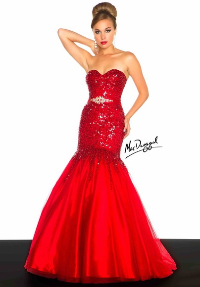 dress sparkly dress sweetheart neckline red, mermaid, dress,