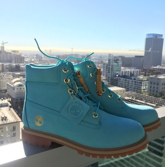 shoes timberlands tiffany blue