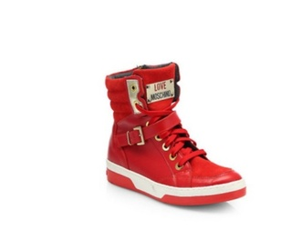 gold sneakers high top sneakers moschino red gorgeous brand