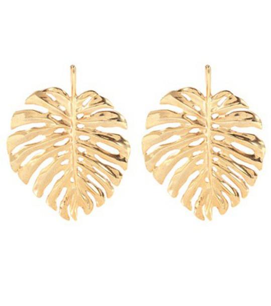oscar de la renta earrings gold jewels