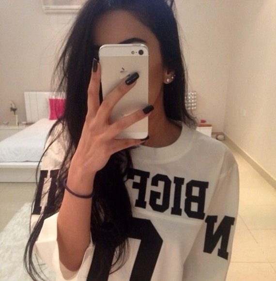 shirt white tee jersey tumblr oversized shirt