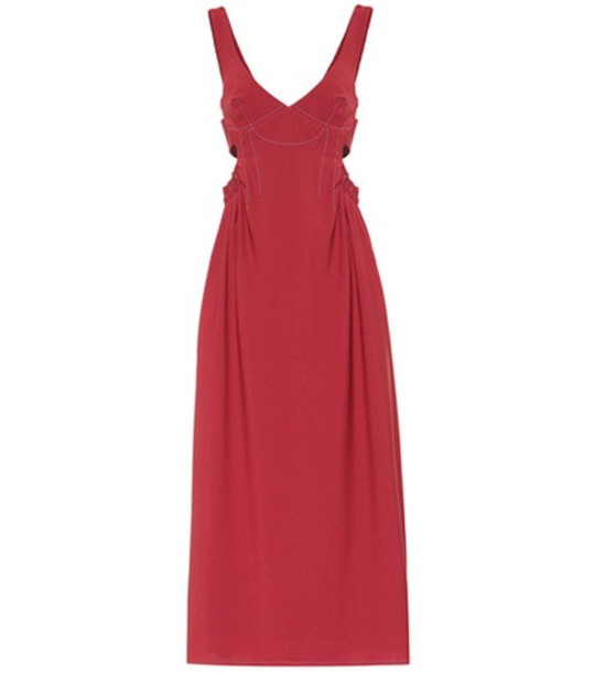 Ellery Romaneque wool-blend maxi dress in red