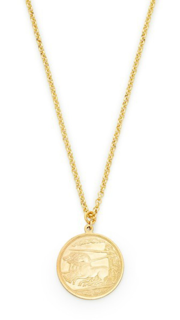 Shashi Warrior Pendant Necklace in gold