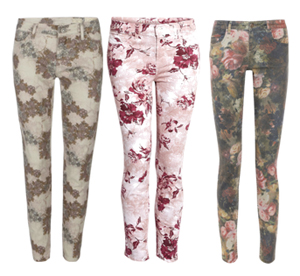Europe Counts For Fashion And TravelFloral jeans