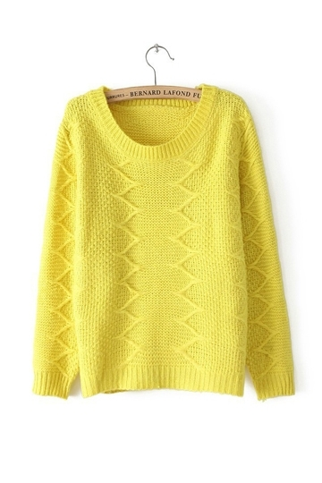 Pure Color Cross Line Details Sweater [FKBJ10293] - PersunMall.com