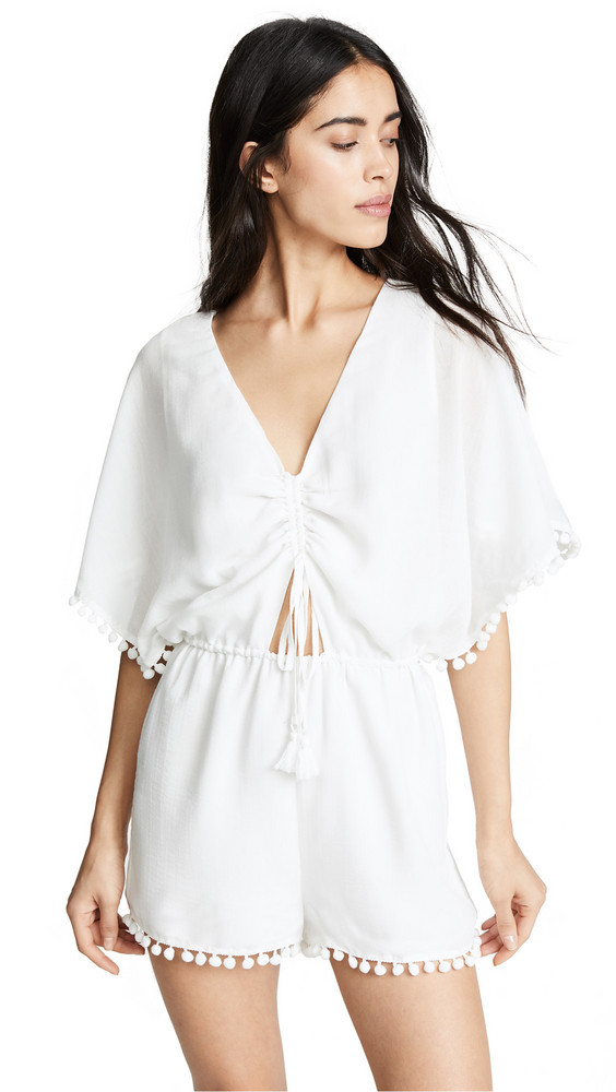 Red Carter Isabella Romper in ivory