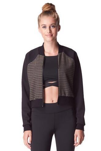jacket activewear jackets activewear tops black green michi bikiniluxe