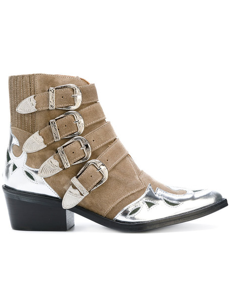 Toga Pulla women ankle boots leather nude shoes
