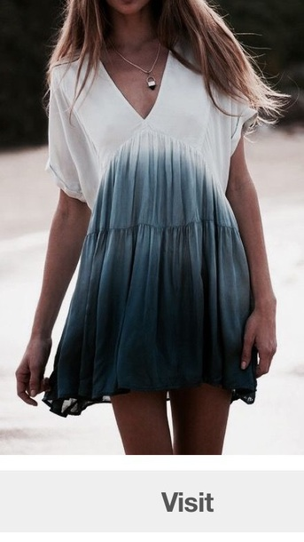 dress blue ombré blue ombre dress smock dress